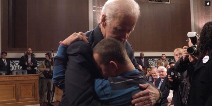 Biden hugging kids