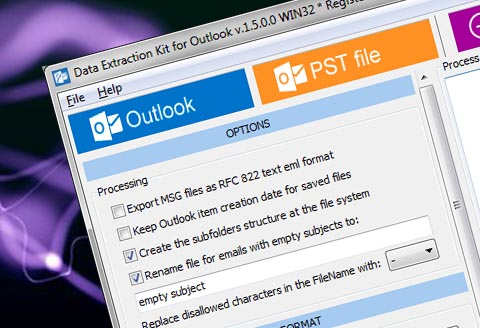 Outlook email extraction kit