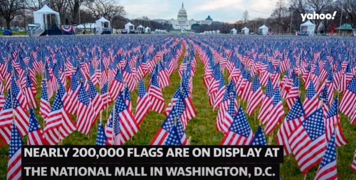 Joe Biden's inauguration lights up Washington, D.C. with 'Field of Flags'