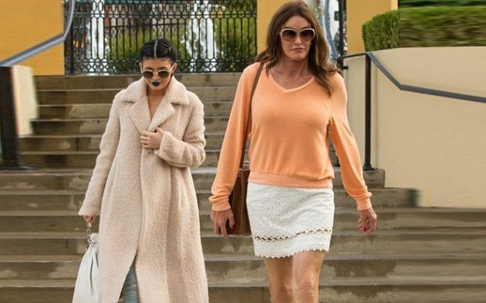 Kylie Jenner (left) with Caitlyn