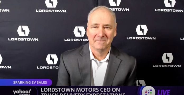 Lordstown Motors CEO discusses truck production goals and why 2021 is a pivotal year for EVs