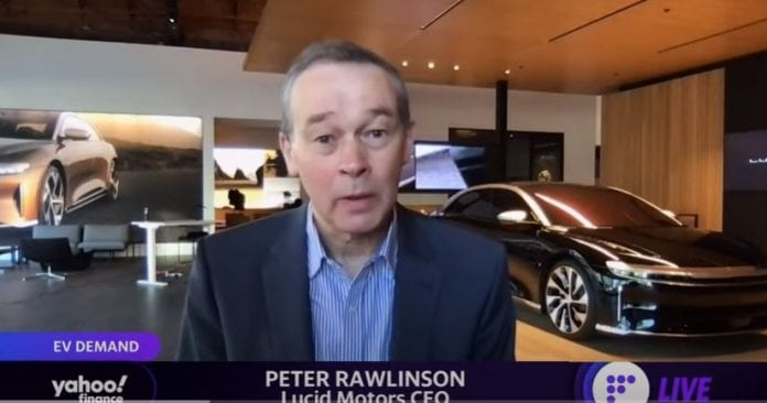 Lucid Motors CEO discusses SPAC and why the company can compete with Tesla