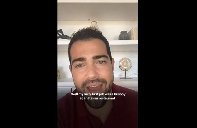 Actor Jesse Metcalfe talks about his first job and breaking into acting