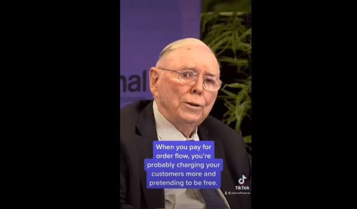 Charlie Munger on Robinhood: No one should believe that Robinhood's trades are free