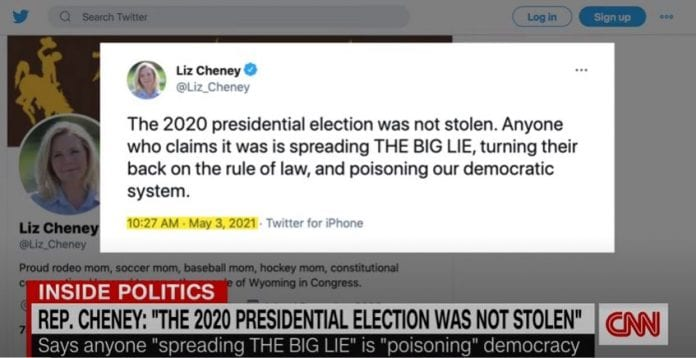 Liz Cheney hits back at Trump: 2020 election was not stolen