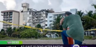 At least 10 dead in Miami building collapse; 21-year-old Marine shot in Times Square