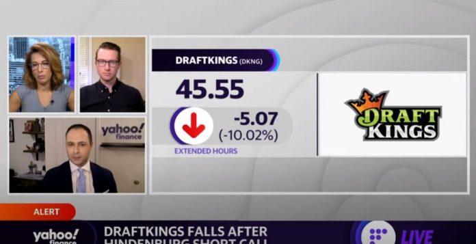 Draftkings shares fall nearly 10% after Hindenburg short call