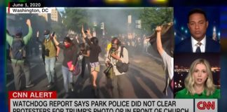 Report finds police did not clear protesters for Trump's visit