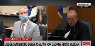 Watch Derek Chauvin as judge reads his sentence