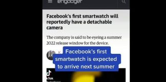 Facebook is working on a smartwatch with an expected rollout date of summer of 2022