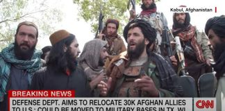 CNN reporter presses Taliban fighter on treatment of women