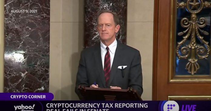 فشل صفقة الإبلاغ عن ضريبة العملة المشفرة في مجلس الشيوخ