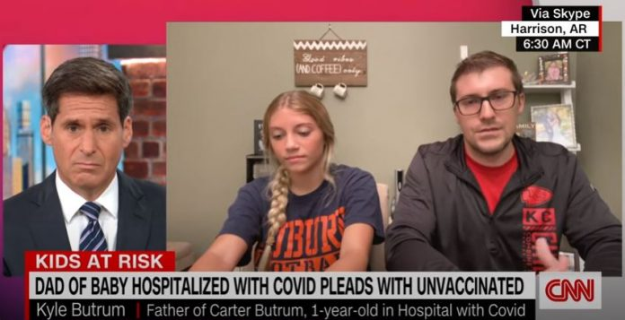 Father of infant hospitalized by Covid-19 has CNN anchor fighting back tears