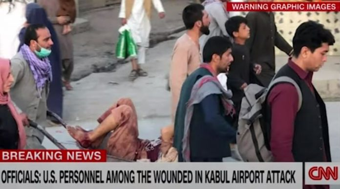 First images emerge from scene of explosion near Kabul airport