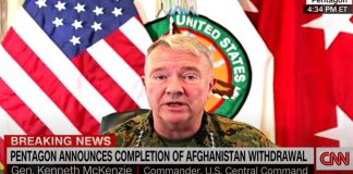 Pentagon announces Afghanistan withdrawal is complete