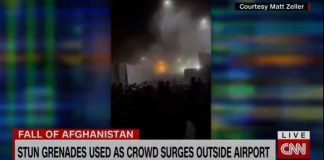 Watch chaos unfold at Kabul airport's north gate