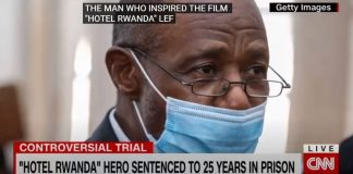 Figure who inspired 'Hotel Rwanda' found guilty on terrorism-related charges