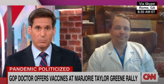 GOP doctor set up vaccine clinic at Marjorie Taylor Greene rally