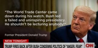 Trump fires back after Bush gives speech condemning politics of anger and fear