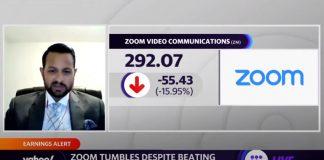 Zoom tumbles despite beating earnings and revenue estimates