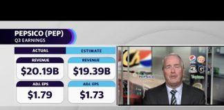 Pepsico CFO talks Q3 earnings beat, growth, and likely price increases in Q1