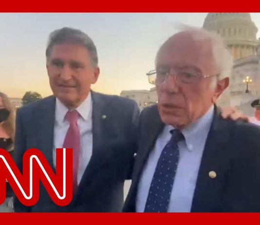 Manchin, Sanders are 'talking' as moderates and progressives continue stalemate