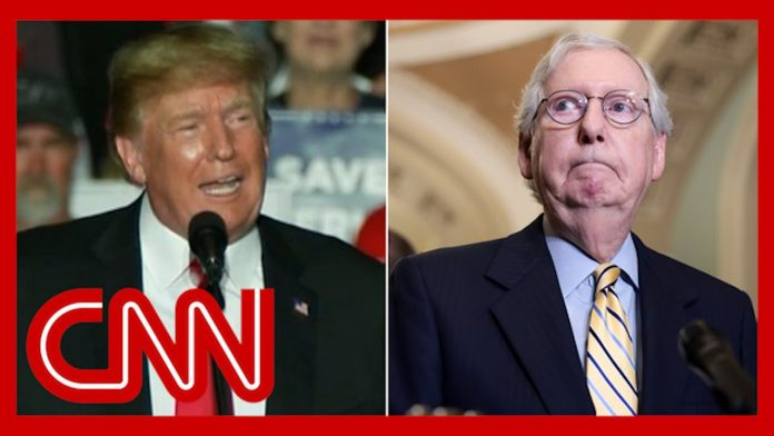 See what Trump said about Mitch McConnell at Iowa rally