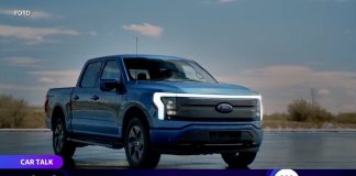 Fords's F-150 all-electric pickup truck first ride and review
