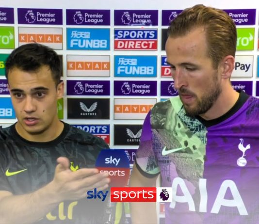 """""""I told the referee to stop the match""""   Reguilon and Kane on reacting to medical emergency"""